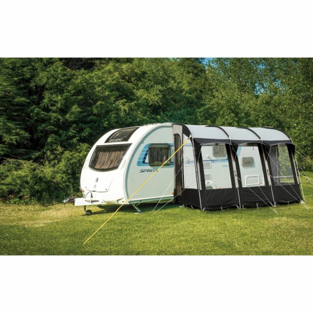 Royal Wessex 390 Lightweight 4000mm Awning Black/silver ...