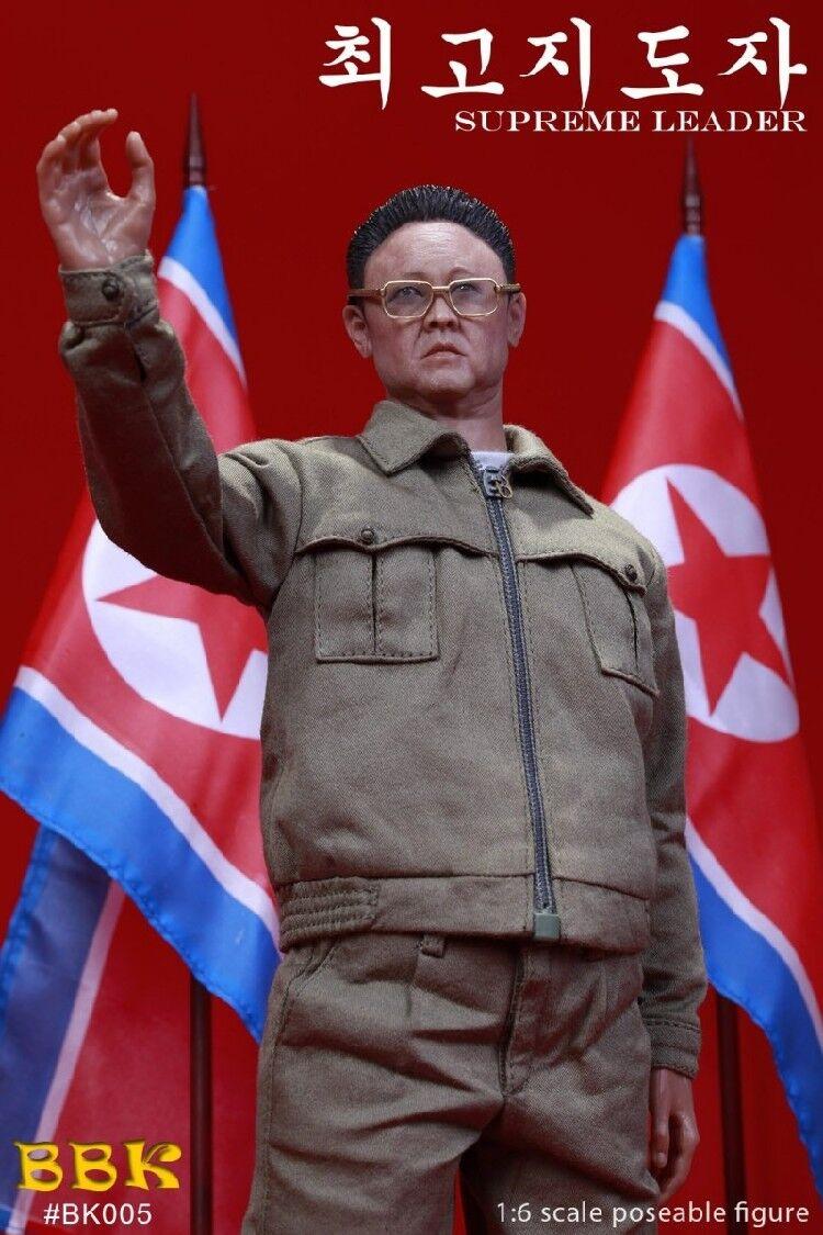 Perfect Bbk Bk005 Kim Jong Il North Korea Leader Figure Model 1 6 Scale