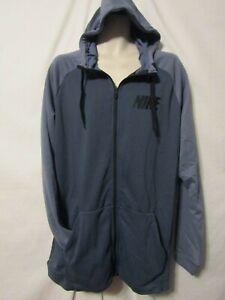 mens nwt60 blue zip gray on nike fit Details jacket LT about full hoodie dri Tl13cFJK