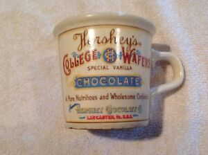 Details about Hershey College Wafers Chocolate Pottery Mug, Lancaster, Pa
