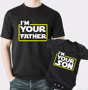 I am your Father and I am your Son t-shirt and baby rompersuit set Star dad