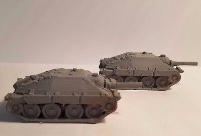 1//72  1:100  1:200 1//87 1//56 1//48 Hetzer x2 Scale 3d Printed WW II Model Tank