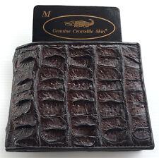 Wallet Brown Man Bifold GENUINE REAL CROCODILE Alligator Backbone Skin Leather