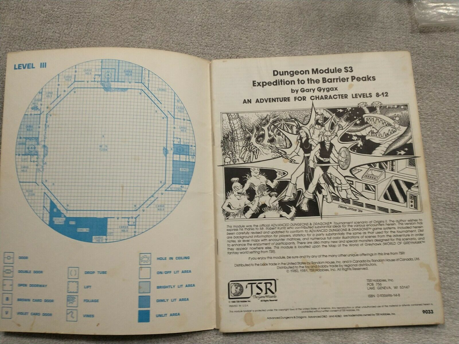 Expedition to The Barrier Peaks Ad/&d S3 TSR 9033 Gary Gygax 1980 Very Good for sale online