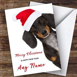 Funny Dachshund Sausage Dog Animal Personalised Christmas Card Ebay