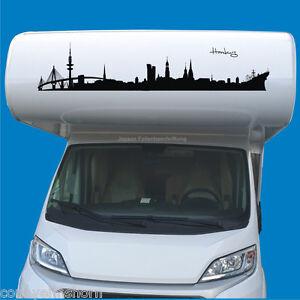 Autoaufkleber-Hamburg-Skyline-80-bis-100cm-fuer-Wohnmobile-LKW-PKW-Wohnwagen-H11