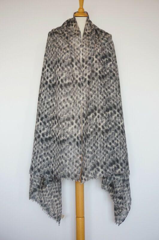 Ingenious Becksondergaard Silk/wool Grey Beige Graphite Scarf