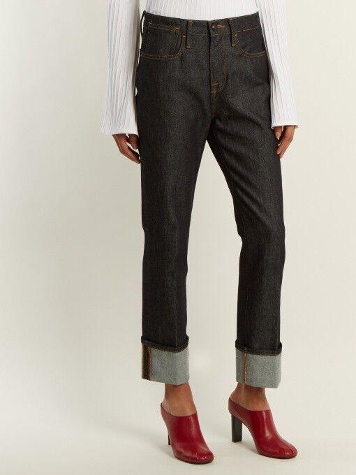 Frame le raw crop mini boot jean, griffith, dark indigo, high rise jean, s. 29