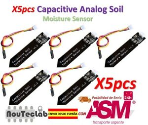 Details about 5pcs Capacitive Soil Moisture Sensor Corrosion Resistant  Gravity 3-Pin Interface