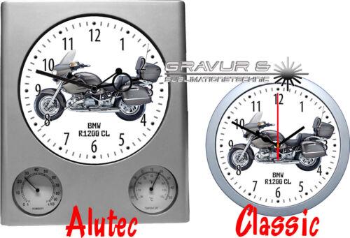 BMW Motorrad Biker Motorradmotiv Bikermotive Wanduhr mit Motiv