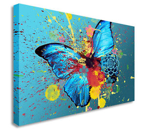 Image is loading Butterfly-Oil-Painting-Artwork-Splash-Wall-Picture-Canvas-  sc 1 st  eBay & Butterfly Oil Painting Artwork Splash Wall Picture Canvas Art Cheap ...
