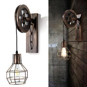E27 Loft Lampe Industrielampe Retro Vintage Hängeleuchte shabby Pendelleuchte DE