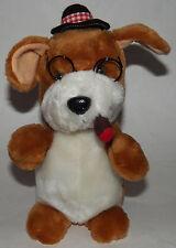 VTG Smoking Dog Plush Play-By-Play Stuffed Animal Toy Glasses Cigar Cigarette