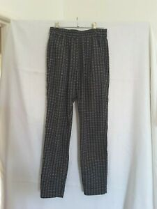 Country-Road-ladies-casual-pants-pull-on-size-4-black-and-white-cruise-resort-XS