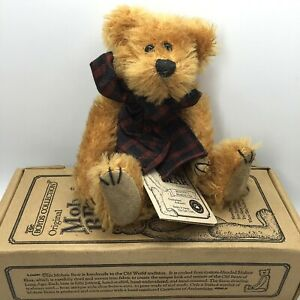 "Boyds Bears Plush Mohair Bear  6"" Tall Madison L Bearington Limited Edition Box"