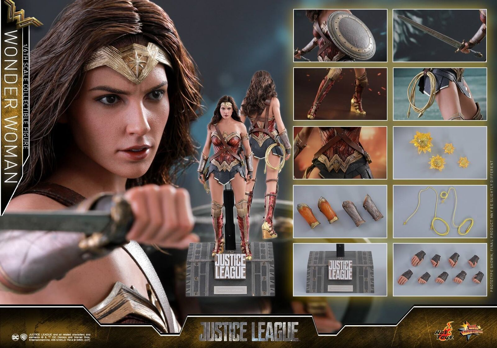 HOT TOYS 1 6 DC JUSTICE LEAGUE MMS450 WONDER WOMAN DIANA ACTION FIGURE