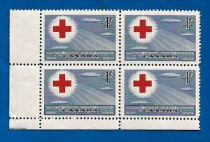 1952 CANADA RED CROSS International Conference postage stamp corner block MNH