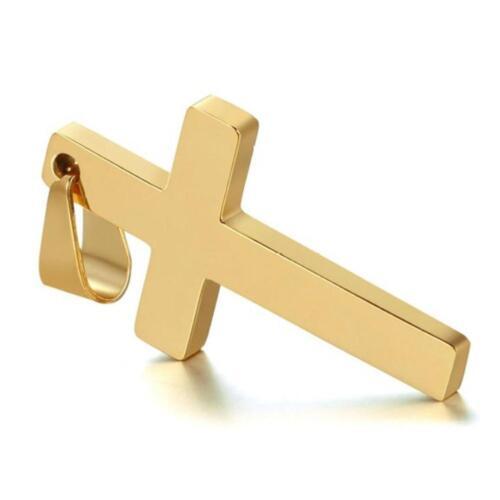 Halskette Kreuz Anhänger Edelstahl Herren PanzerketteSchmuck