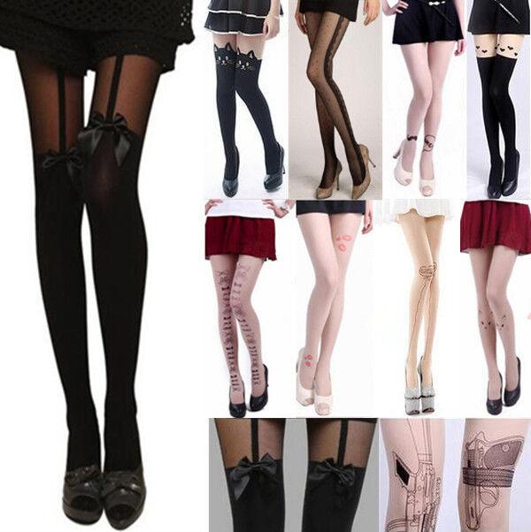 New Sexy Fashion Pantyhose Design Pattern Printed Tattoo Stockings Tights
