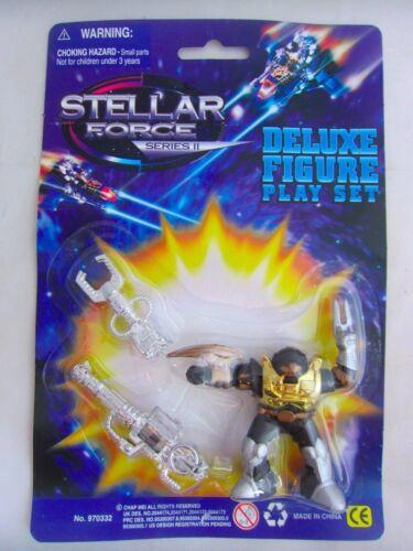 Stellar Force Lot de 4 mini figures par CHAP MEI Space Robot Bootleg KO années 1990