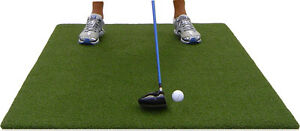 Backyard Golf Mat 3' x 5' Pro Residential Practice Golf Turf Mat With Foam Pad
