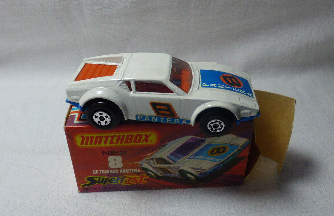 Matchbox Superfast-MB 8 De Tomaso Pantera-Made in England-Boxed -
