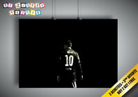 Poster Leo Messi Barca Numero 10 Football Wall Art