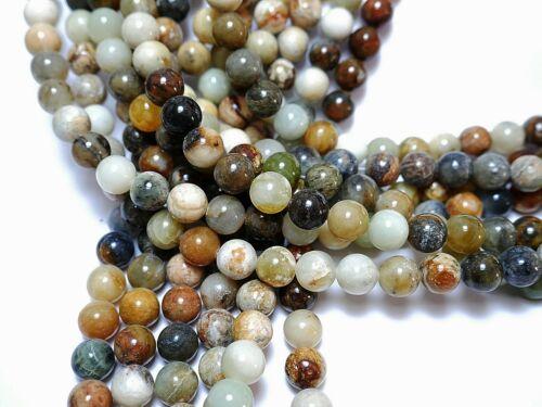 Nellys Strang Chine Jade Perles Boules Gemmes superbe couleur naturelle