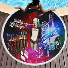 Suicide Squad Joker and Harley Quinn Cool Round Towel Tapestry Yoga Beach Mat