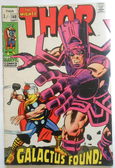 THOR #168 - SEPT 1969 - GALACTUS APPEARANCE - FN (6.0) PENCE COPY!!