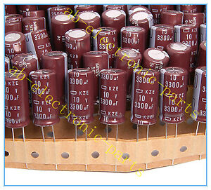 4pcs- NCC 3300uf 10v Radial Electrolytic Capacitor 10v3300uf