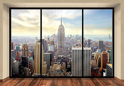 "Wall Mural NEW YORK CITY SKYLINE ""PENTHOUSE"" photo wallpaper 366x254cm wall art"