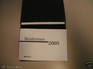 GM-2005-Buick-Rendezvous-Owner-039-s-Manual