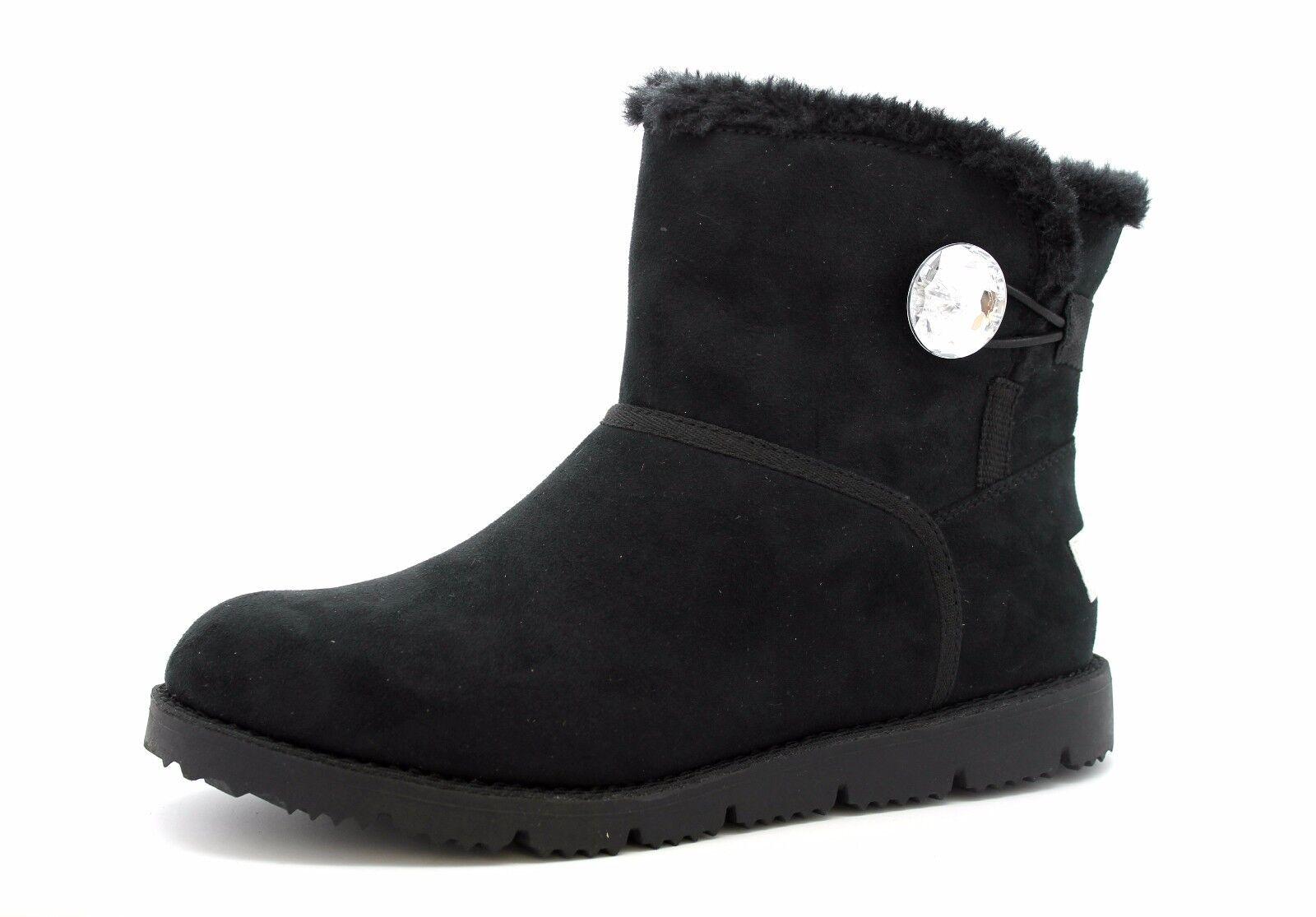 S Oliver Mujer UK 6 EU 39 Negro Negro Negro Imitación Gamuza Joya Piel Forrada de Invierno botas al tobillo  calidad oficial