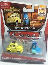 2013 Disney Pixar Cars 2: LUIGI & GUIDO WITH SHAKER AND GLASSES Wheel Well Motel