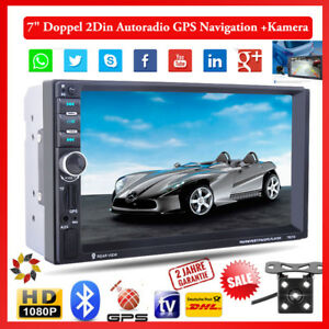 7 2din autoradio mit gps navigation navi bluetooth. Black Bedroom Furniture Sets. Home Design Ideas