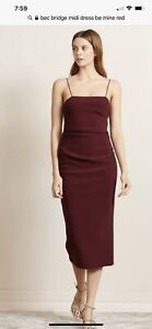 bec bridge Be Mine Dark Red Midi Dress Size 8 As New
