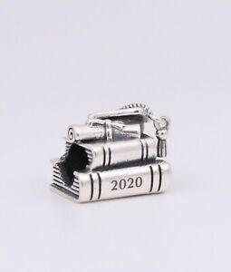 Details about New Authentic PANDORA 2020 Graduation Books Cap Silver Charm  #798910C00 w/ Pouch