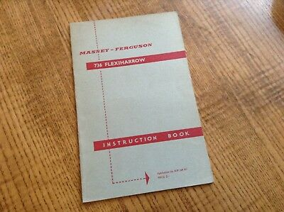 Other Tractor Publications Agriculture/farming Dashing Mf 736 Flexi Harrow Operators Instruction Book