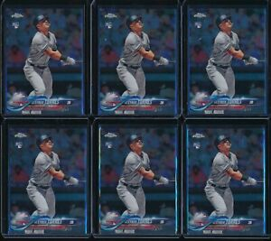 2018-Topps-Chrome-Update-Set-Gleyber-Torres-6-Card-RC-Lot-HMT80-Rookie-Yankees