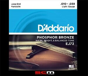 Daddario-EJ73-Mandolin-String-Set-10-38-Phosphor-Bronze-Light-Strings