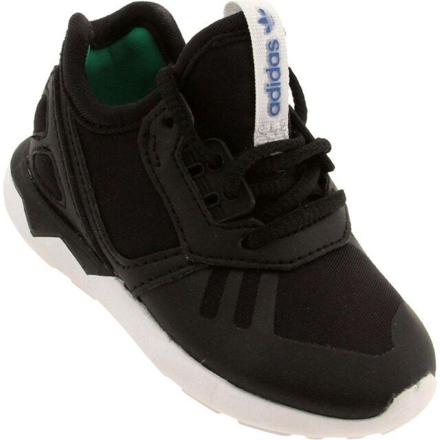 e0ebea2f31a ADIDAS Originals Toddler Tubular Runner Shoes sz 5C 5 Black White Classic  DEFECT