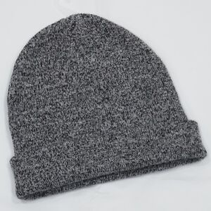 ef403531666 Old Navy Heather Black Cuff Roll Up Knit Beanie Hat Adults One Size ...