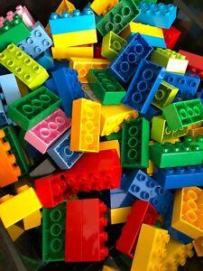 100 RANDOM PARTS /& PIECES LEGO DUPLO LOT FREE SHIPPING !!