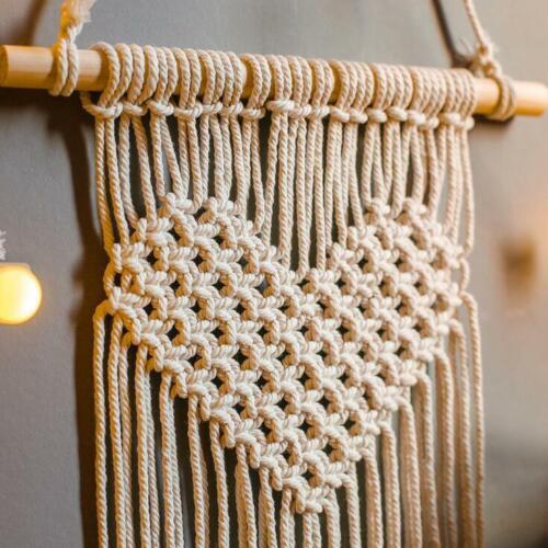 Handmade Woven Bohemian Macrame Wall Hanging Tapestry Tassel Home Art Decor