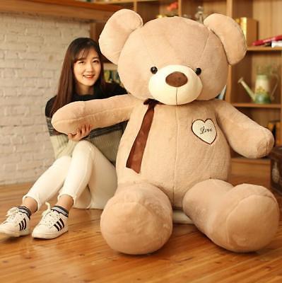 GIANT HUGE BIG STUFFED ANIMAL TEDDY BEAR PLUSH SOFT TOY CUTE GIFT 110-145 CM