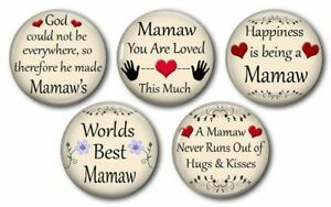Details about MAMAW Fridge Magnet Sayings and Quotes Handmade Grandma  Grandmother Gift