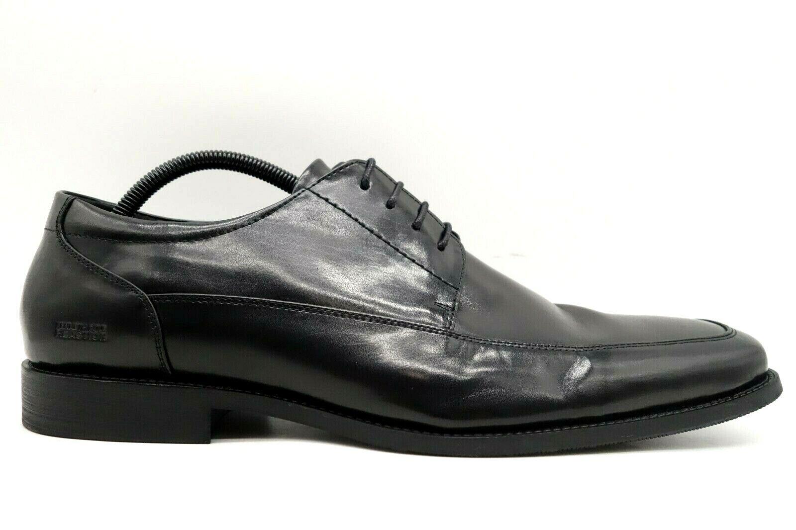 Kenneth Cole Reaction Bottom Line Black Leather Lace Up Oxfords Shoes Men's 12 M