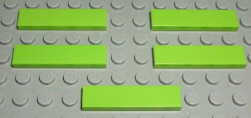 Kachel 1x4 lime Hellgrün 5 Stück Lego Fliese 626