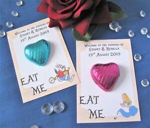 Alice in Wonderland Theme Wedding Favours - Chocolate Heart ...